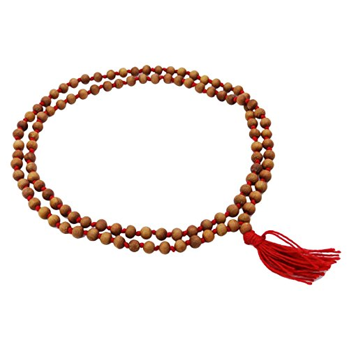 inCAREofGOD Chandan Wood Japa Mala Beaded Rosary Prayer Spiritual Gift Meditation