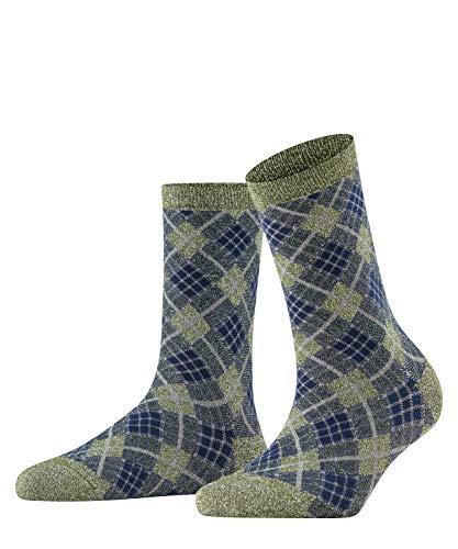 Burlington Damen Ladywell Rhomb W SO Socken, Grün (Sage 7640), 36-41