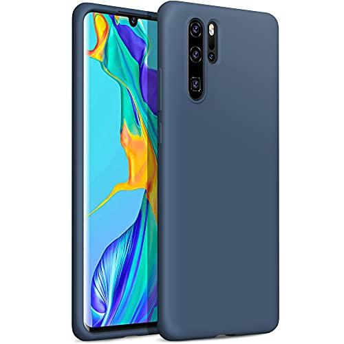 YATWIN kompatibel mit Handyhülle Huawei P30 Pro Hülle, Ultra Dünn Flüssig Silikon Hülle Huawei P30 Pro, Schutzhülle Huawei P30 Pro Hülle, 3-Layer Schutzhülle Blau