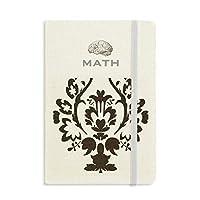 フラワーブラック並列バロック芸術のパターン クラシックノートブッククラシックジャーナル日記A 5