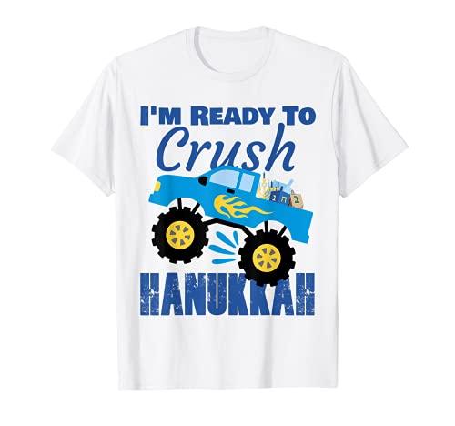 Hanukkah Toddler Gelt Monster Truck Kids T-Shirt