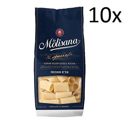 10x Pasta La molisana 100% Italienisch paccheri n° 316 Nudeln 500 g