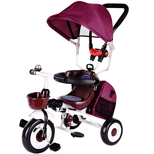 Find Discount YUMEIGE Kids' Tricycles Kids Tricycle Color Bean red Solid Wheel 1-5 Years Old Birthda...