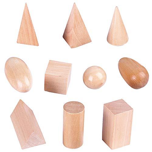 JOKFEICE Matériel Montessori Préscolaire Géométrie Cylindre Forme Bloc Early Educational Toy Science Project Aides pédagogiques pour Tout-Petits Enfants Garçons Filles