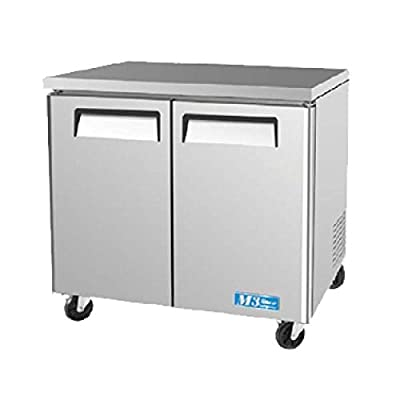 Turbo Air MUF-36 Undercounter Freezer Solid Door Two Section