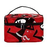 Bolsa de maquillaje de viaje Ninja grande bolsa de maquillaje organizador con cremallera para mujeres y niñas