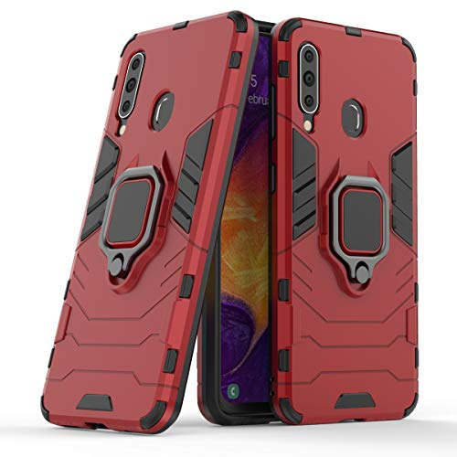 Cocomii Black Panther Ring Galaxy A60/M40 Case, Slim Thin Matte Vertical & Horizontal Kickstand Ring Grip Reinforced Drop Protection Fashion Bumper Cover Compatible with Samsung Galaxy A60/M40 (Red)