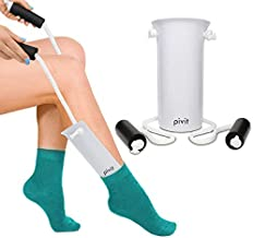 Pivit Easy On and Off Stocking Slider | Pulling Assist Sock Aid Device | Compression Sock Helper Aide Tool | Puller, Donner for Elderly, Senior, Pregnant, Diabetics | Pull Up Assistance Help
