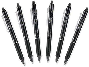 PILOT FriXion Clicker 0.7mm Erasable Gel Pens Fine Point Black Ink Pack Of 6