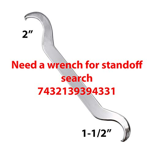Stainless Steel 316 Grade Heavy Duty Metal Concrete Mount 1-1//2 OD Standoff 1 Projection w// Sheet for 1//2 ~ 3//4 Glass Railing
