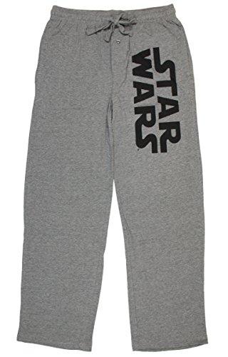 Star Wars Logo Heather Sleep Pants (Dark Grey, Medium)