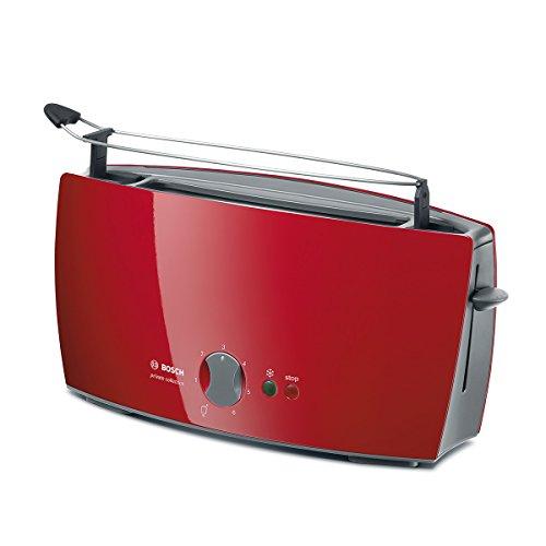 Bosch TAT6004 - Tostador, 900 W, color rojo