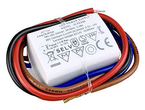 Eaglerise LED Netzteil Driver Treiber Trafo 3W 350mA wasserdicht IP65
