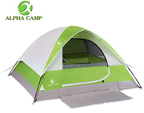 ALPHA CAMP 2Person Camping Dome Tent with Carry Bag Lightweight Waterproof Portable Backpacking Tent for Outdoor Camping/Hiking