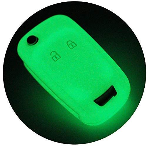 Schlüssel Hülle OE für 2 Tasten Auto Schlüssel Silikon Cover von Finest-Folia (Nachtleuchtend)