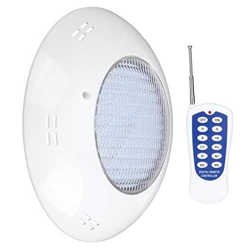 Clasken Luz subacuática, Luces LED Impermeables Luz para Piscina Accesorios para Piscina Luz de Pared para Piscina Luz de Piscina con Control Remoto para Piscinas sobre el Suelo
