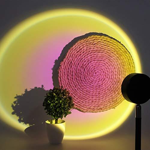 Luz LED de proyección de Puesta de Sol, lámpara de proyección de Puesta de Sol Recargable por USB, Ahorro de energía ecológico sin deslumbramiento para el Dormitorio de la Sala de Estar