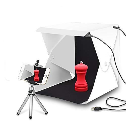 FQF Accesorios de fotografía La Mesa de luz portátil Plegable de Estudio Fotografía Suave Caja de luz LED Foto de la Caja Suave for la cámara del iPhone DSLR Fondo de la Foto