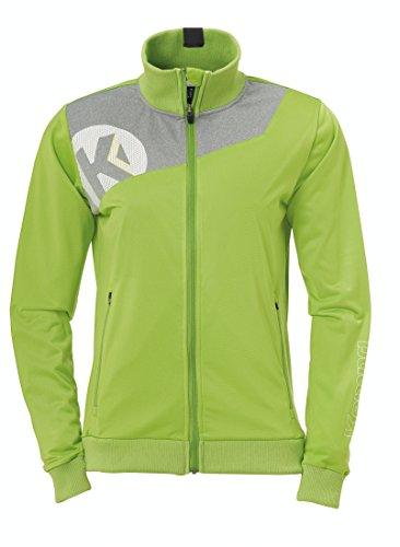KEMPA - CORE 2.0 POLY JACKET WOMEN - Veste Handball - Poches latérales zippées - Élastiques manches et taille - vert espoir/gris foncé chiné