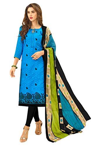 Disfraz de diseador indio listo para usar, diseo tnico indio Staritght Salwar para mujer, Skyblue1-b1, S