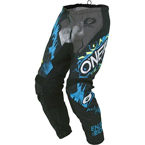 O'NEAL | Motocross-Hose | Kinder | MX Enduro | außergewöhnliche Bewegungsfreiheit, Vollständig gefüttert, Schutzpolster aus Gummi für Extra Schutz | Element Youth Pants Villain | Grau | Größe 28