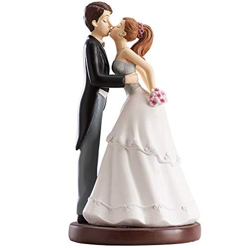 Dekora - Küssendes Brautpaar Figur für Hochzeitstorte 16 cm