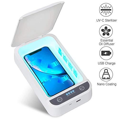 IFLOVE Handy UV-Licht Sterilisator Tragbare Telefon Cleaner Aromatherapie Funktion Desinfektor Beschichtungsmaschine für Android Smartphone iPhone