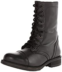in budget affordable Steve Madden Trooper 2.0 Combat Boots Women's Black Leather US9.5 m