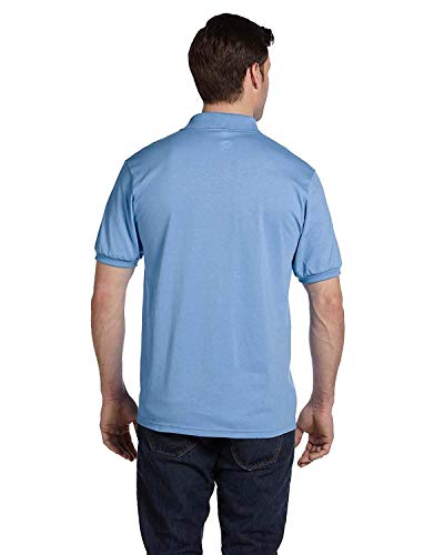 Hanes Adult ComfortBlend EcoSmart Jersey Polo Shirt, Light Blue, XX-Large