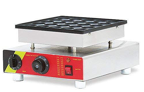 25pcs Commercial Use Non-stick 110v 220v Electric Dutch Poffertjes Danish Pancake Puffs Maker Machine Baker + Batter Dispenser