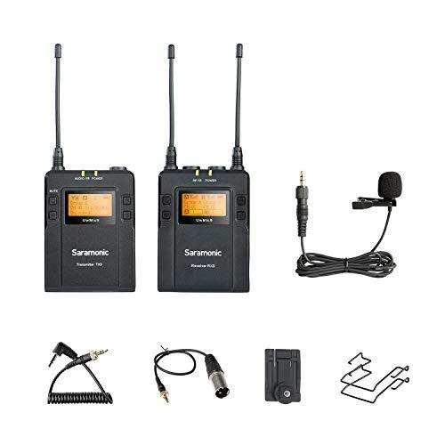 Saramonic Uwmic9-TX9+ RX9–Sistema di microfono a cravatta, wireless, colore: nero