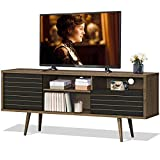 Tangkula Mid-Century Modern TV Stand for TVs up to 65'', Wooden TV...