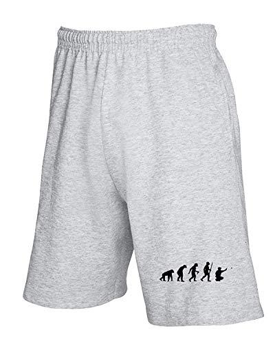 T-Shirtshock Jogginghose Shorts Grau EVO0005 Boule Petanque Evolution