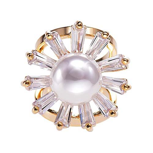 CHICAI Accesorios de Hebilla de Bufanda para Mujer de Lujo Perla Salvaje Broche Simple, Adecuado para Bufandas, Ropa, Chal