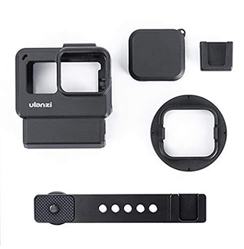 Linghuang V2 Pro Estuche Multifuncional Vlogging Montura de Cold Shoe para Micrófono Luz LED de Video, Carcasa de Marco Conectable por Cable Carcasa de la Carcasa Compatible para Gopro Hero 7 6 5