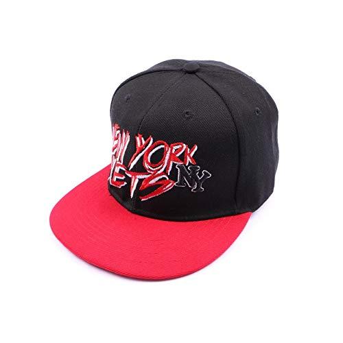 Hip Hop Honour Casquette NY fitted noire et visière rouge - Mixte
