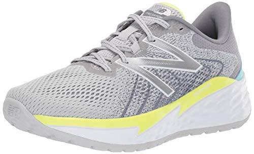 New Balance Women's Fresh Foam Evare V1 Running Shoe, Light Aluminum/Lemon Slush, 6.5