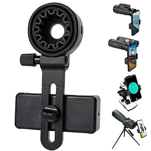 Teleskop-Telefon-Adapter, Universal-Handyhalterung, kompatibel mit Fernglas, Monokular, Mikroskop, Spektiv, Teleskop, Smartphone-Halterung, Clip-Halterung, passend für fast alle Mobiltelefone