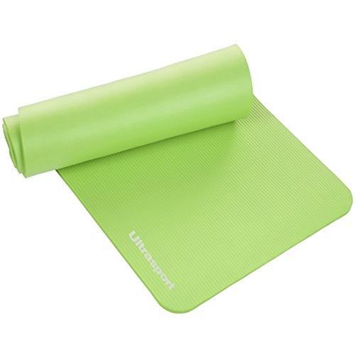 Ultrasport Materassino da ginnastica, tappetino per esercizi, materassino fitness per workout, pilates, aerobica o massaggi, 190 x 90 x 1,2 cm, Verde