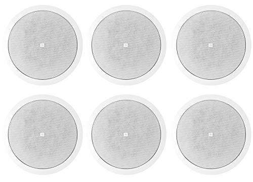 "(6) JBL Control 26C 6.5"" 150 Watt In-Ceiling White Home Theater Speakers 16-ohm"