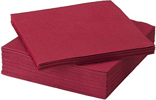 Ikea FANTASTISK Papierserviette rot 50 Stück 40 x 40 cm, Paper, 40 x 40 x 0.1 cm