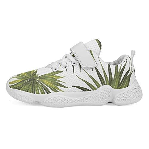 YxueSond - Zapatillas deportivas para deportes al aire libre, con cordones, Infantil, blanco, 30