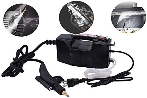 Handgerät Dampfreiniger, 350ml tragbare Handdampfreiniger mit 11 Zubehörteilen zum Entfernen von Flecken auf Teppichen, Autositzen, Küchenvorhängen, Kammern, Böden, Bädern und mehr (Black)