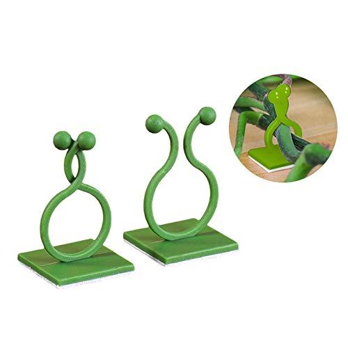 Pumpumly Soporte de plantación para pared, autoadhesivo, color verde, para escalar plantas, autoadhesivo, clip de fijación para pared, gancho