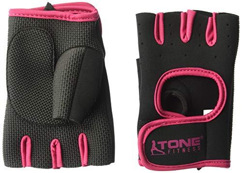 Tone Fitness HHWG-TNPINKM Tone Pink Weightlifting Gloves, Medium