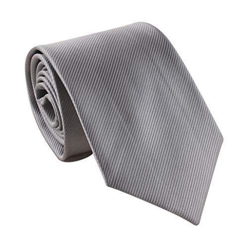 LEVAO Solid Color Ties - Multiple Colors Formal Neckties 210112 Light Gray