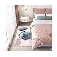 ラグ・カーペット・マット ピンクのエリアの敷物のムースのムースのベルベットのカーペットのための寝室の居間のコーヒーテーブルのクッションベッドサイドの洗えるふわふわの敷物 ラグ・カーペット (Color : 15.7*47.2in, サイズ : F)