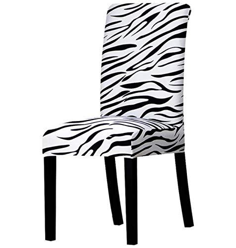 VYEKL Fodere per sedie con Stampa zebrata Coprisedie Elastiche Elasticizzate Fodera per Banchetti Sala da Pranzo per Hotel Decorazione Domestica 4 Pezzi