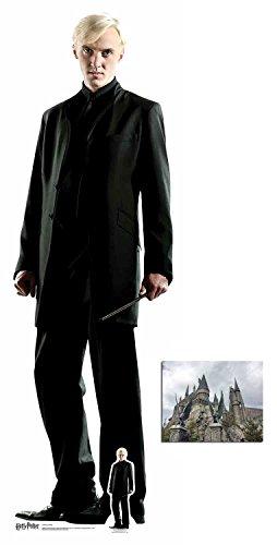 BundleZ-4-FanZ by Starstills Draco Malfoy (Tom Felton) Harry Potter Lebensgrosse und klein Pappaufsteller/Stehplatzinhaber/Aufsteller mit 25cm x 20cm foto