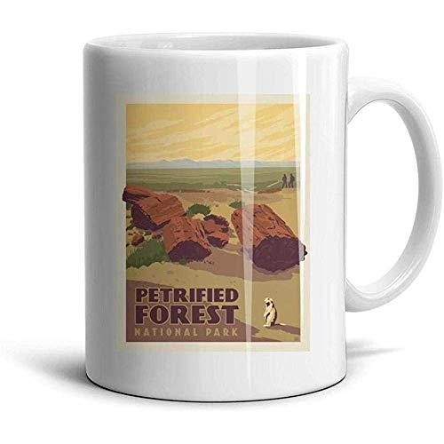 Petrified Forest National Park Kaffee-Haferl Weiße Teetasse aus Keramik Süße Tassen für Schwestermutter